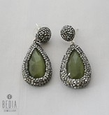 "Earrings green ""Cateye"""