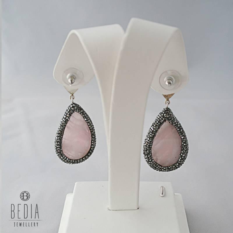 """Earrings """"Rose quartz"""""""