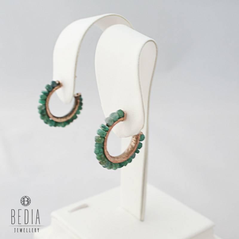 Ronde oorbellen groen