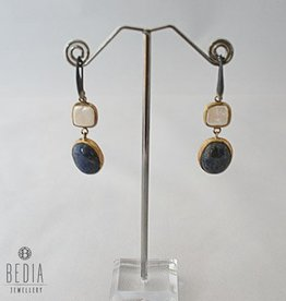 Earrings blue and white