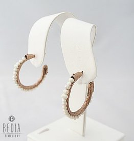 Hoop earrings white