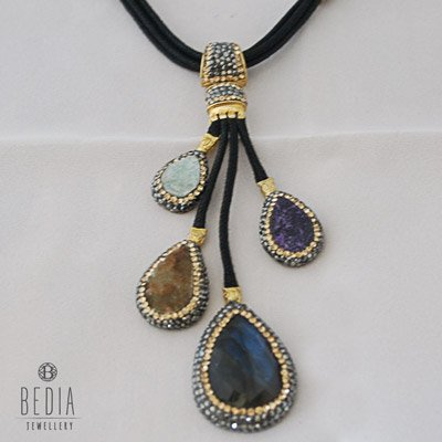 """Ketting """"Statement multicolor"""""""