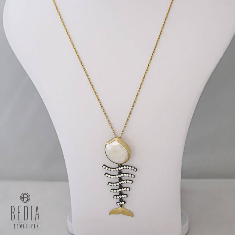 "Necklace ""fishbone"""