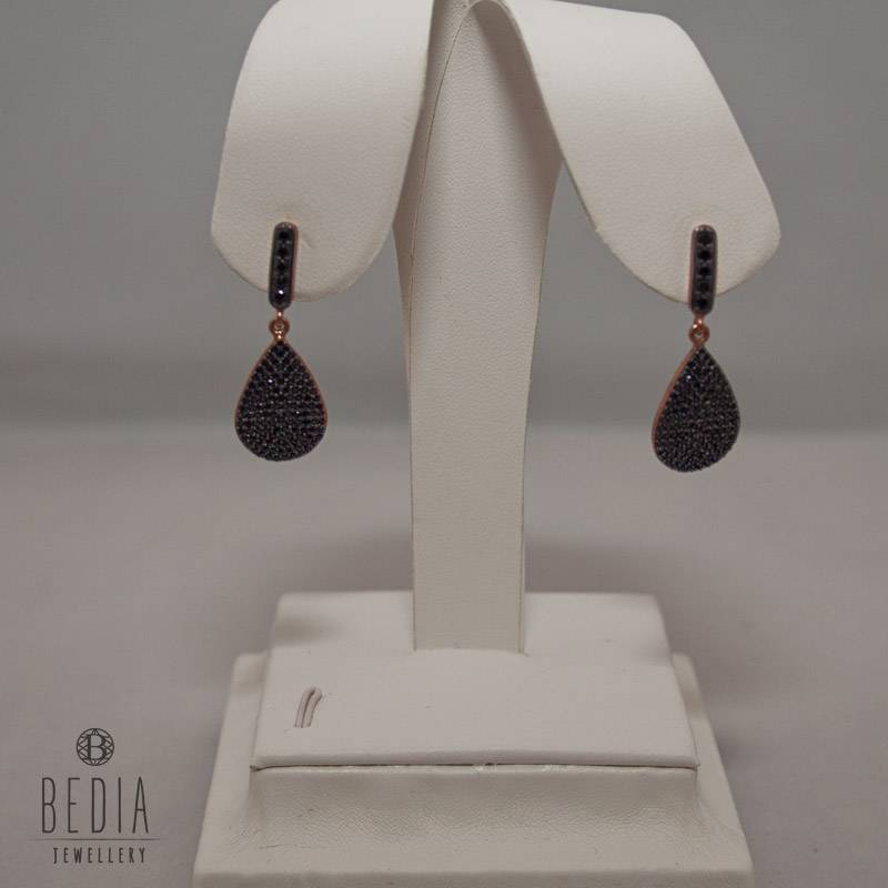 "Earrings ""Black Drop"""
