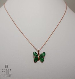 """Green butterfly"" necklace"