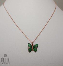 """""""Groen vlinder"""" ketting"""