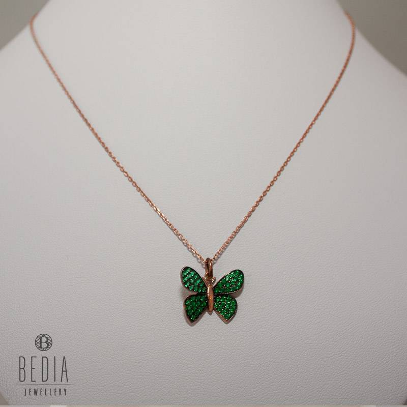 """""""Green butterfly"""" necklace"""