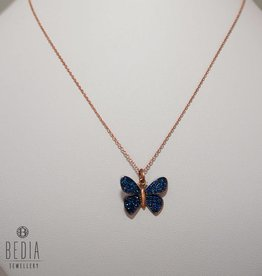 """Blue butterrfly"" necklace"