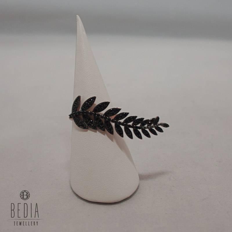 """Ring """"Black Leaf"""""""
