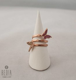 "Ring ""Butterfly pink and white"""