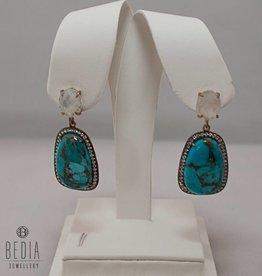 "Earrings ""Glamorous Turquoise"""