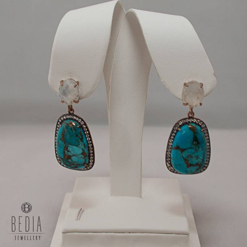 "Earrings ""Glamorous Turquoise"""