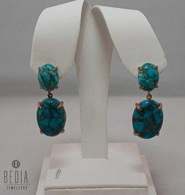"""Oorbellen """"Gorgeous Turquoise"""""""