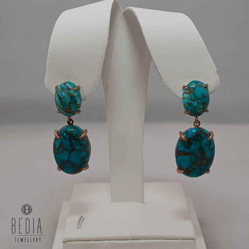 "Earrings ""Gorgeous Turquoise"""