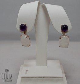 "Earrings ""Elegant Amethist & Moonstone"""