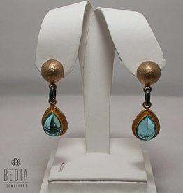 "Earrings ""Royal Blue Topaz"""