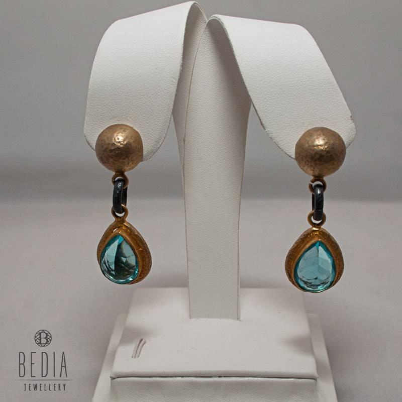 """Earrings """"Royal Blue Topaz"""""""