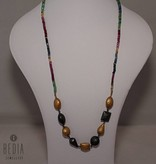 "Necklace "" Modern Sapphire & Ruby & Emerald"""