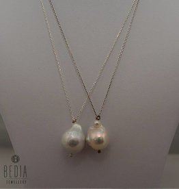 "Necklace ""Single pearl white"""