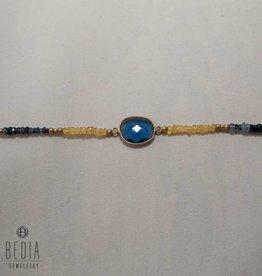 "Beads bracelet ""Blue stone"""