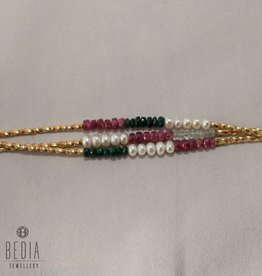 "Kralen armband ""Pearl and multicolor"""