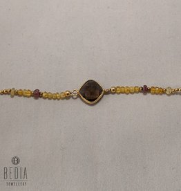 "Bead bracelet ""Brown Stone"""