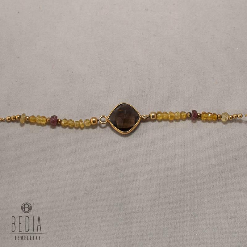 "Bead bracelet ""Brown Stone"""