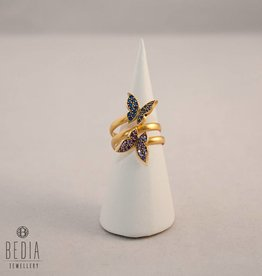 "Ring ""Butterfly blue & lilac"""