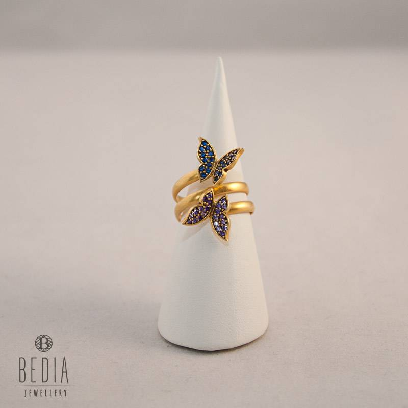 "Ring ""Butterfly blue & lila"""