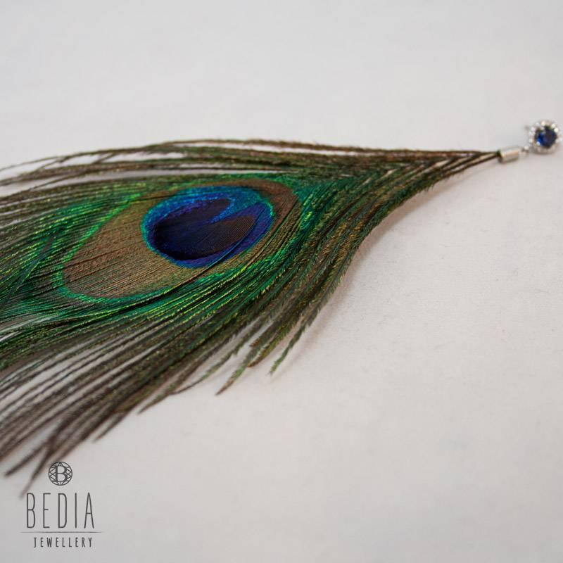 "Earring ""Peacock"""