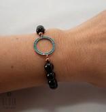 "Beaded bracelet ""Blue circle"""
