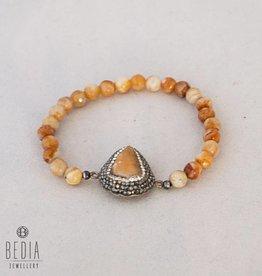 Brown beads bracelet