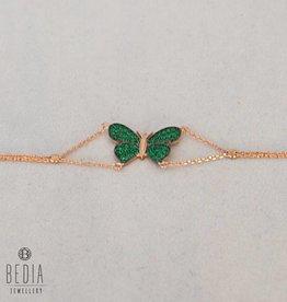 """""""Green Butterfly"""" bracelet"""
