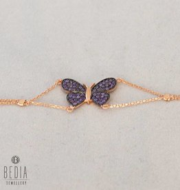 """Purple Butterfly"" bracelet"