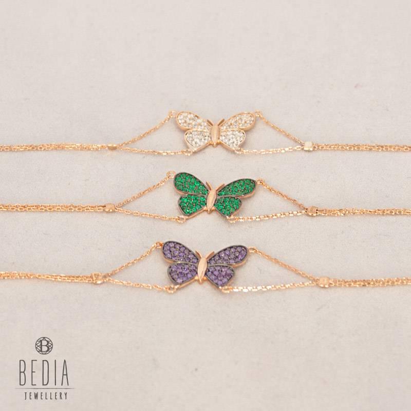 """""""Paarse vlinder"""" armband"""