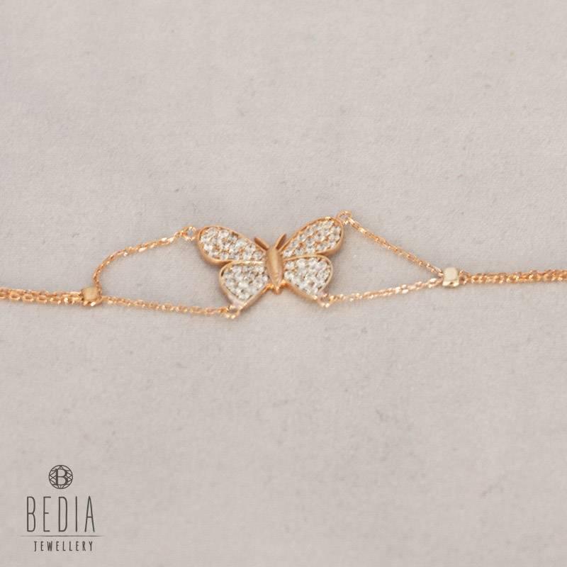 """""""Witte vlinder"""" armband"""