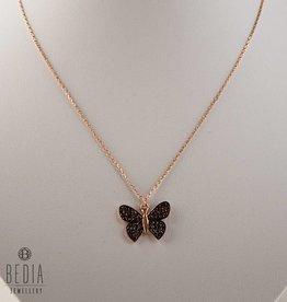 Bruine vlinder ketting
