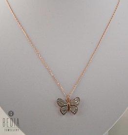 Witte vlinder ketting