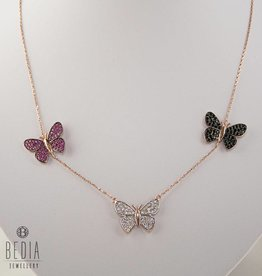 "Triple ""Butterfly"" ketting"