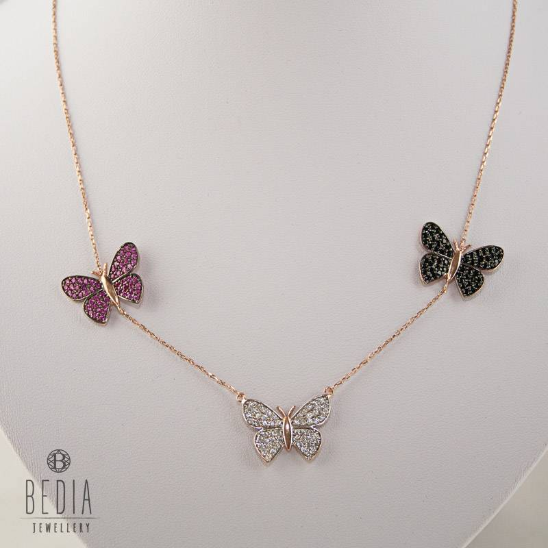 """Triple """"Butterfly"""" ketting"""