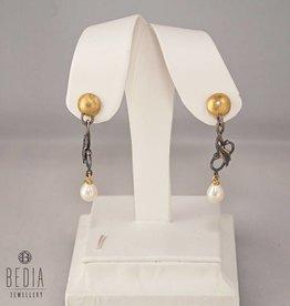 Classy pearl oorbellen