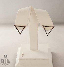 Open Black triangel earrings