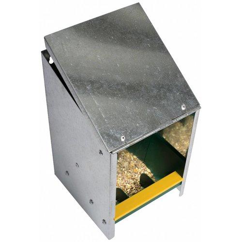 JUNAI Voerautomaat met deksel voor 2,5 kg voer