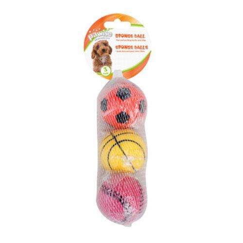 Pawise Sponge Ball 3-pack
