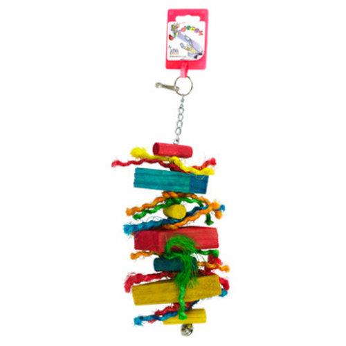 Birdeeez Parakeet Toy Wood