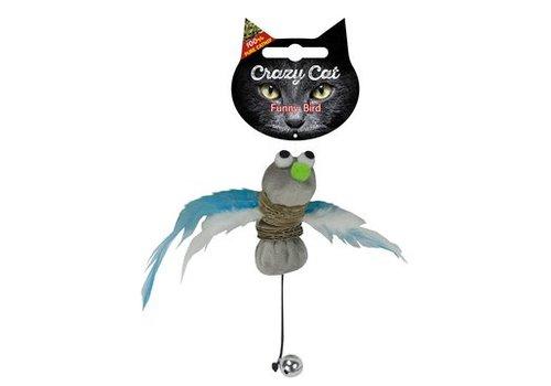 Crazy Cat Funny Bird met catnip