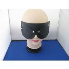 bizarre leather bondage masker beginners met oogkleppen