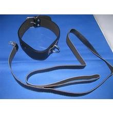 bizarre leather leren halsband voor bondage met riem