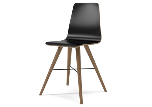 Bolia Beaver laminate - dining chair - Oiled Oak/Black