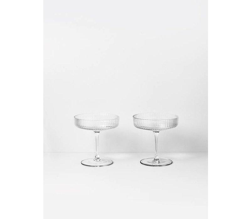 Ripple Champagne glazen - Set van 2